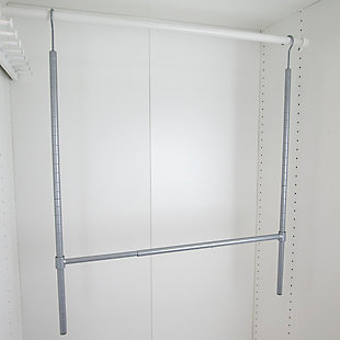 Contemporary Two Tier Hanging Closet Organizer, , large