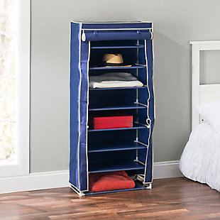 Contemporary Portable Eight Tier Shoe Closet, , rollover
