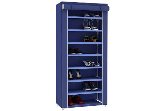 Contemporary Portable Eight Tier Shoe Closet, , large