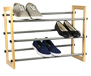 Contemporary Three Tier Expandable Shoe Rack, , large