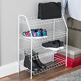 Sunbeam Four Tier Wire Shoe Rack, , rollover