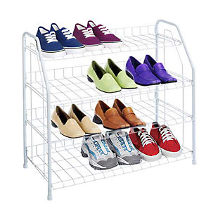Sunbeam Four Tier Wire Shoe Rack, , large