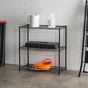 Contemporary Three Tier Multipurpose Wire Shelf, Gray, rollover