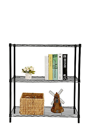 Contemporary Three Tier Multipurpose Wire Shelf, Gray, large