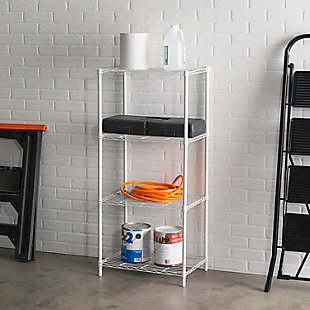 Adjustable Four Tier Multipurpose Wire Shelf, , rollover