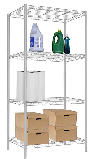 Adjustable Four Tier Multipurpose Wire Shelf, , large