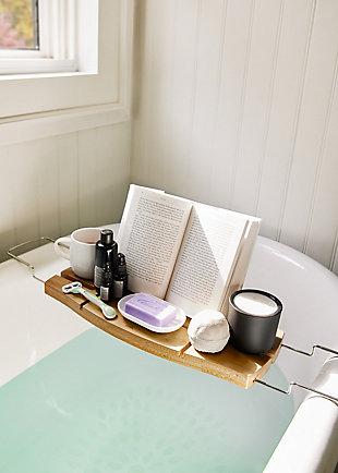 Umbra Aquala Bath Caddy, Beige/Brown, rollover