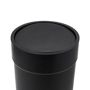 Home Accent 1.6 Gallon (6L) Touch Trash Can with Lid, Black/Gray, large