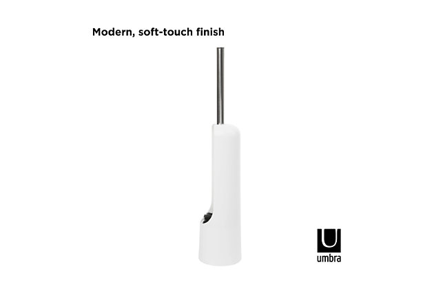 Home Accent Touch Toilet Brush, White, large