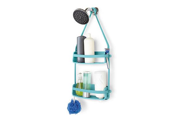 Home Accent Flex Shower Caddy, Blue, large