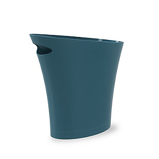 Home Accent Skinny Trash Can 2-Gallon (7.5L), Blue, large