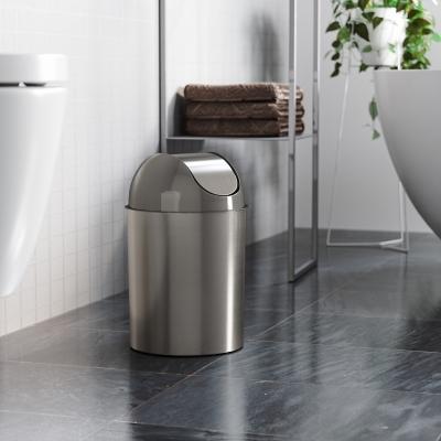 Home Accent Mezzo Swing-Top Trash Can, Metallic, large