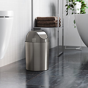 Home Accent Mezzo Swing-Top Trash Can, Metallic, rollover