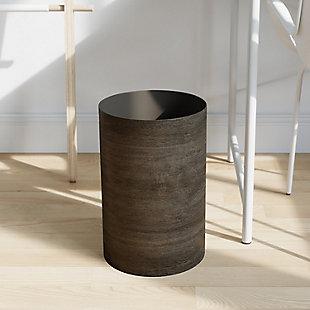 Umbra Treela Trash Can 4.5 Gallon (17 L), Brown/Beige, rollover