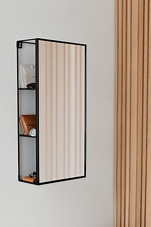 Home Accent Cubiko Wall Mirror & Storage Unit, , rollover