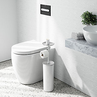 Umbra Portaloo Toilet Paper Stand and Storage, , rollover