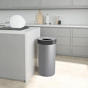 Umbra Vento 16.5 Gallon (62L) Trash Can, Gray, rollover