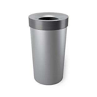 Umbra Vento 16.5 Gallon (62L) Trash Can, Gray, large