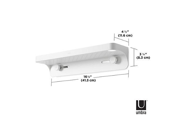 Home Accent Flex Sure-Lock Bathroom Storage Shelf, , large