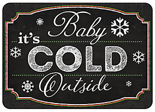 "Christmas  Premium Comfort Blackboard Cold Outside 22""x31"" Mat, , large"