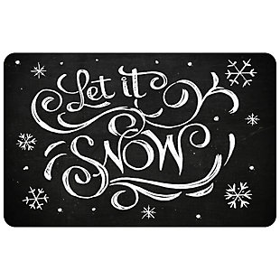 "Christmas  Premium Comfort Blackboard Let it Snow 22""x31"" Mat, , large"