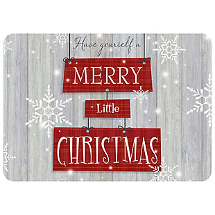 "Christmas  Premium Comfort Merry Little Christmas 22""x31"" Mat, , rollover"