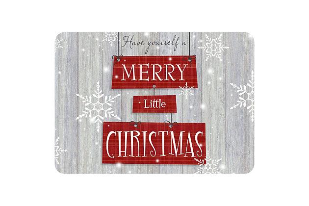 "Christmas  Premium Comfort Merry Little Christmas 22""x31"" Mat, , large"