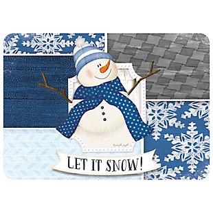 """Christmas  Premium Comfort Let it Snow Snowman 22""""x31"""" Mat, , large"""