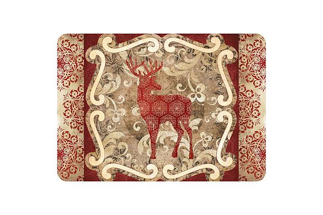 "Christmas  Premium Comfort Reindeer 22""x31"" Mat, , large"