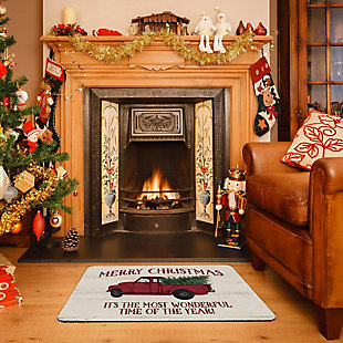 "Christmas  Premium Comfort Merry Christmas Vintage Truck 22""x31"" Mat, , rollover"