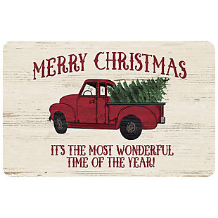 "Christmas  Premium Comfort Merry Christmas Vintage Truck 22""x31"" Mat, , large"