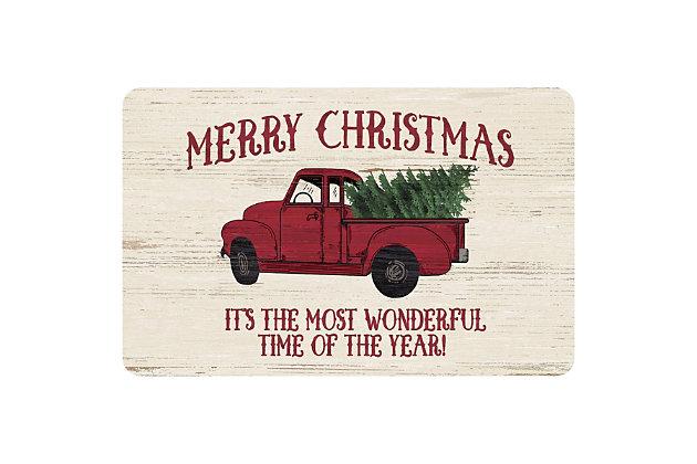 "Christmas  Premium Comfort Merry Christmas Vintage Truck 22""x31"" Mat, , large"