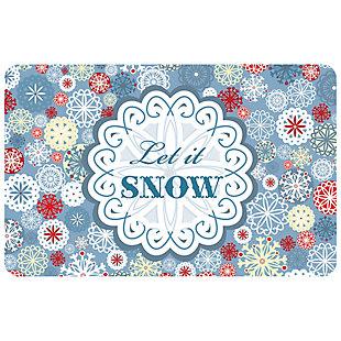 """Christmas  Premium Comfort Let it Snow 22""""x31"""" Mat, , large"""