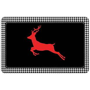 "Christmas  Premium Comfort Holiday Houndstooth Deer 22""x31"" Mat, , large"