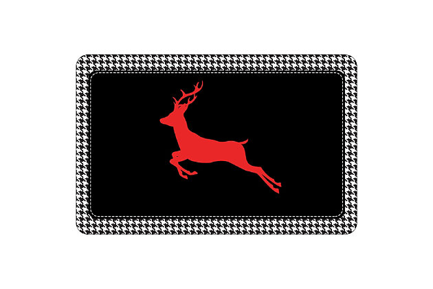 "Christmas  Premium Comfort Holiday Houndstooth Deer 22""x31"" Mat, , large"