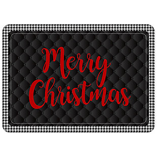 "Christmas  Premium Comfort Holiday Houndstooth Merry Christmas 22""x31"" Mat, , rollover"