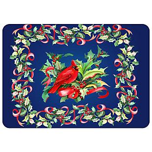 "Christmas  Premium Comfort Cardinal In Holly 22""x31"" Mat, , large"