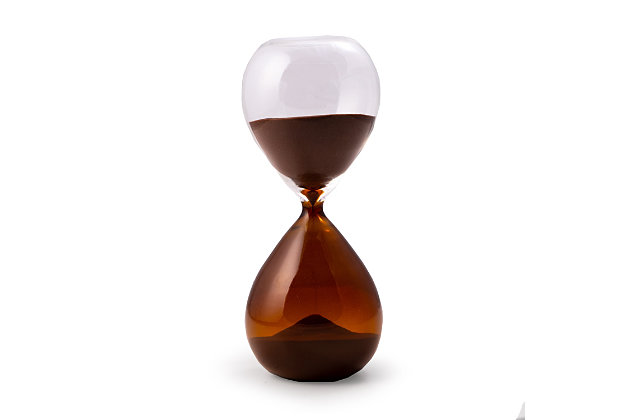 Bey-Berk 60 Minute Amber and Clear Glass Sand Timer with Amber Sand, Red, large