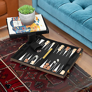 Bey-Berk Backgammon Set with Wenge Finished Wood, , rollover