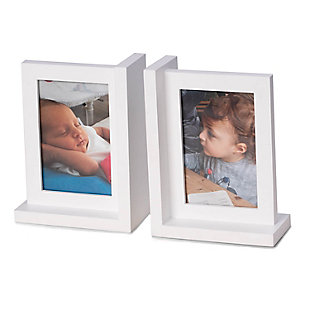 Bey-Berk White Picture Frame Bookend, , rollover