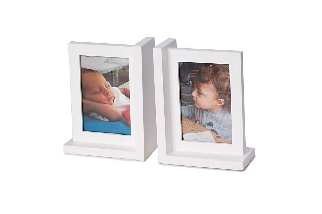 Bey-Berk White Picture Frame Bookend, , large