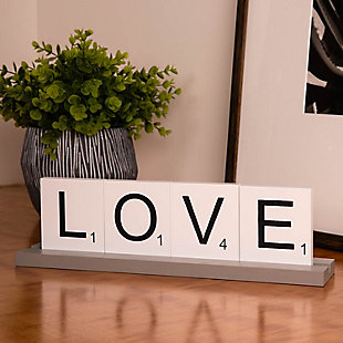Bey-Berk Love Scrabble Letter Tile Wooden Sign, , rollover