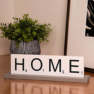Bey-Berk Home Scrabble Letter Tile Wooden Sign, , large