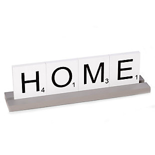 Bey-Berk Home Scrabble Letter Tile Wooden Sign, , large