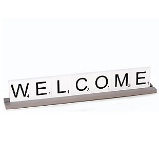 Bey-Berk Welcome Scrabble Letter Tile Wooden Sign, , large