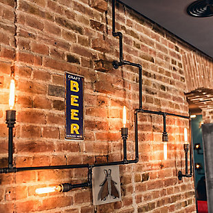 "Bey-Berk ""Craft Beer"" Metal Sign, LED Lighted, Wall Mountable, , rollover"