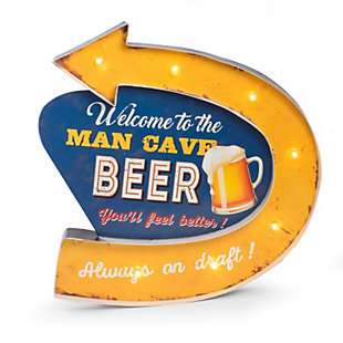 "Bey-Berk ""Man Cave"" LED Lighted Sign, , large"