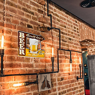"""Bey-Berk """"Beer Served Here"""" LED Lighted Sign, , rollover"""