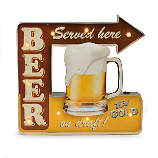 """Bey-Berk """"Beer Served Here"""" LED Lighted Sign, , large"""