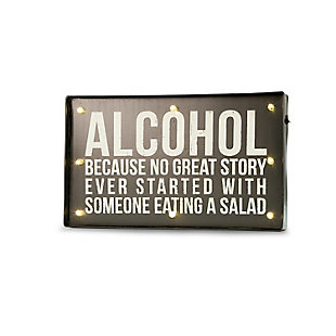 "Bey-Berk ""Alcohol...."" LED Lighted Sign, , large"